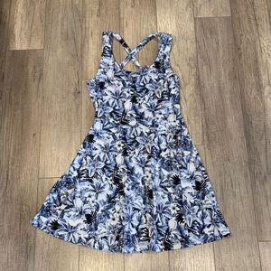 Blue Floral Skater Dress - H&M